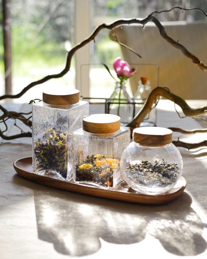 Фото 1 - Баночки стеклянные для чая или кофе.