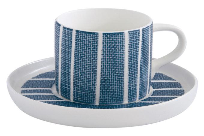 Фото 3 - Чайная пара в сине-белую полоску.