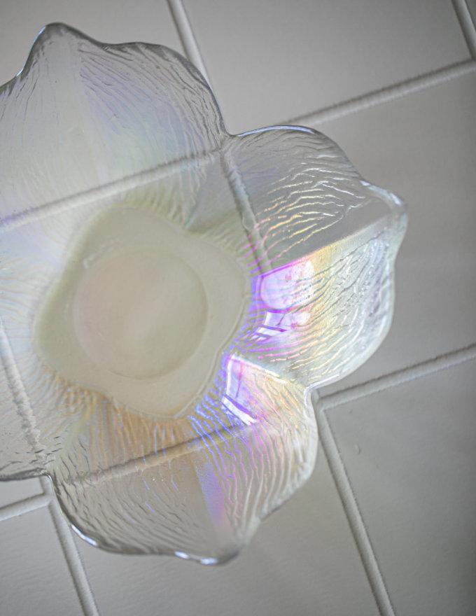 Фото 4 - Салатник Лилия из радужного стекла.