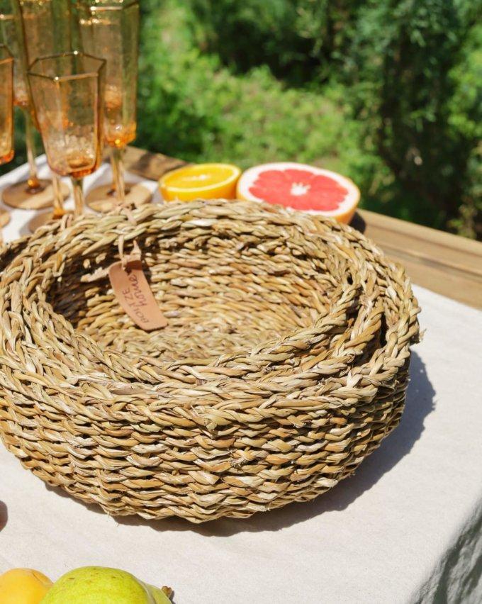 Фото 3 - Плетеные круглые корзины.