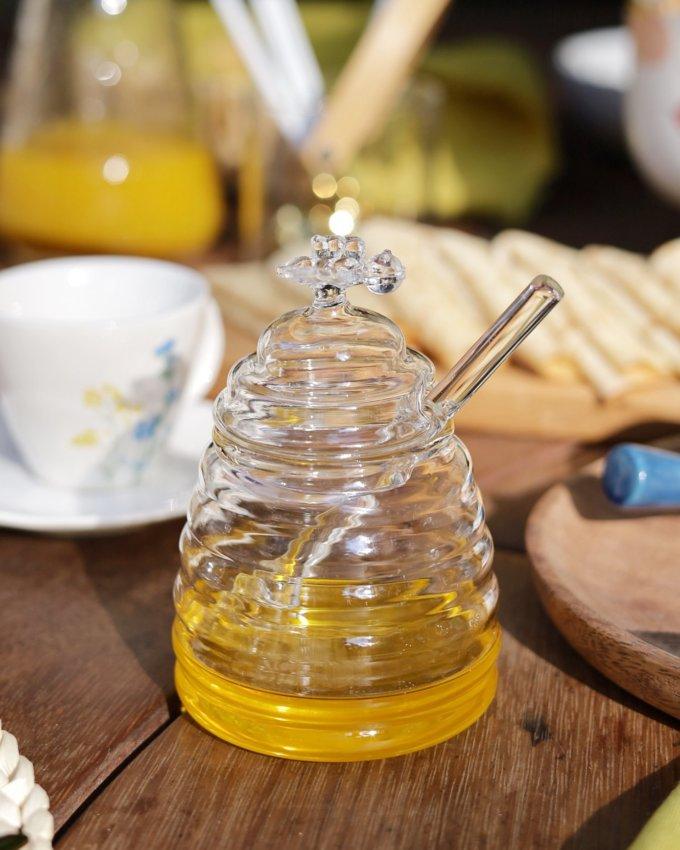 Фото 1 - Баночка для меда с пчелкой.