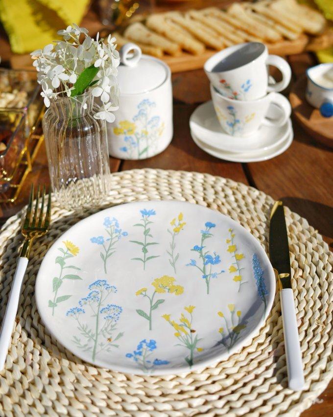 Фото 4 - Кофейная пара с летними цветами.