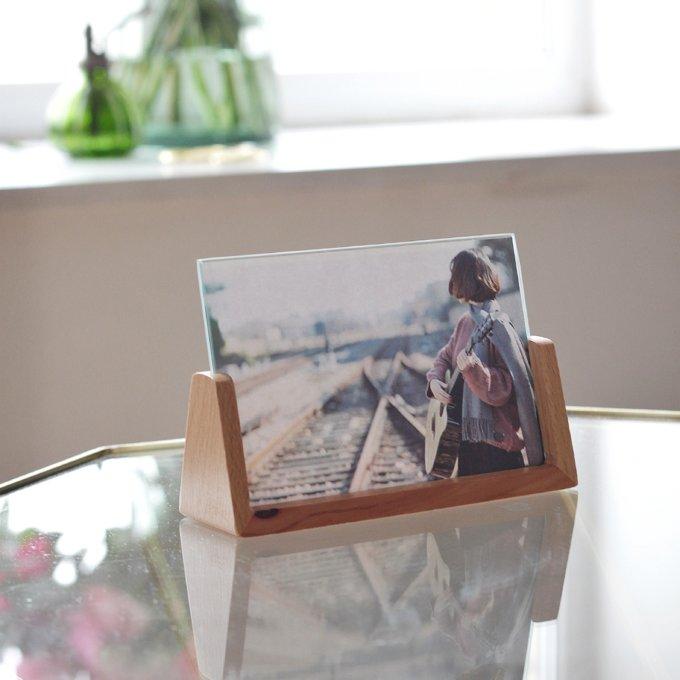 Фото 2 - Фоторамка на деревянном основании.
