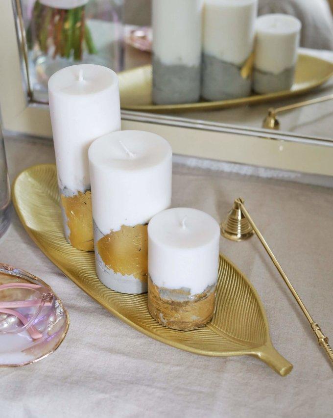 Фото 2 - Вытянутое блюдо для свечей Лист.