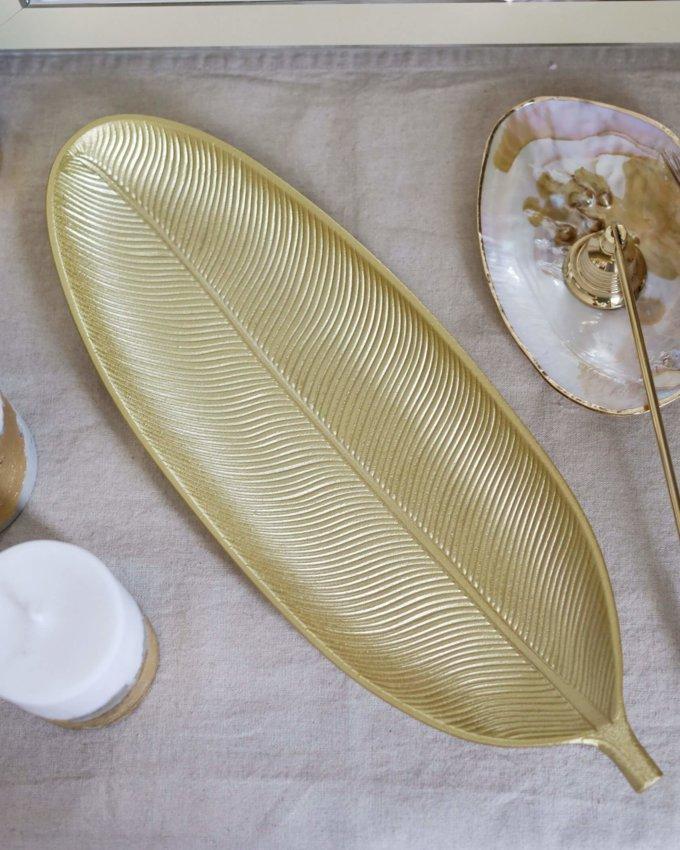 Фото 3 - Вытянутое блюдо для свечей Лист.