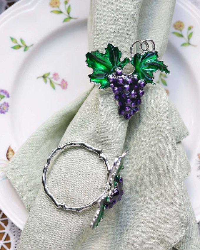 Фото 1 - Кольца для салфеток Grape (2шт.).