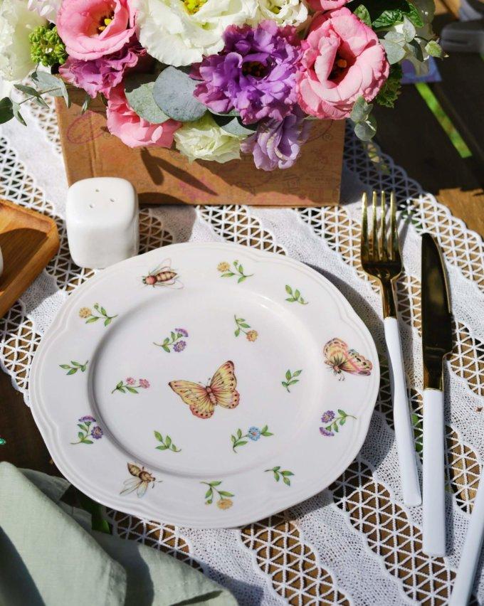 Фото 1 - Плоская тарелка Garden.