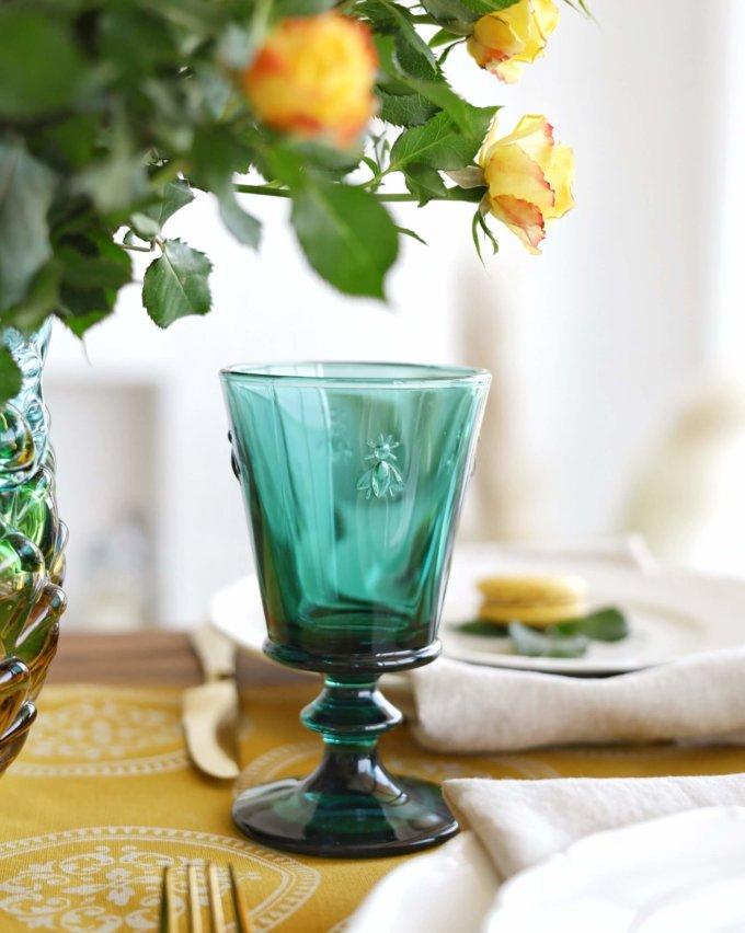 Фото 1 - Бокалы и стаканы с пчелками зеленые.