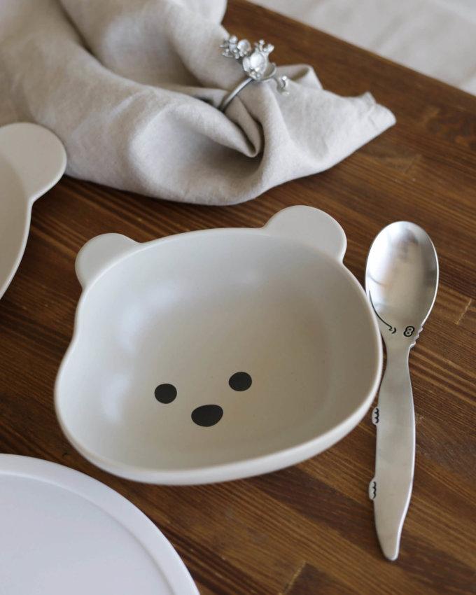 Фото 3 - Детская посуда с серым медвежонком.