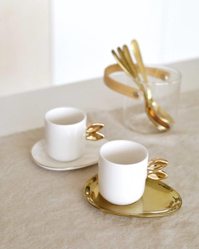 Фото 1 - Кофейная пара для эспрессо Love bunny.