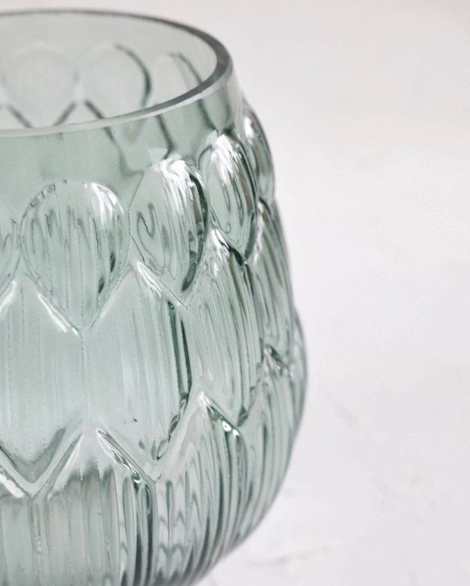 Фото 2 - Ваза Артишок из стекла мятного цвета.